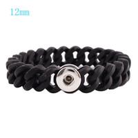 Wholesale Mini Bracelets - Partnerbeads Mini Snap Bracelet high quality Silica gel Snap base jewelry Fit 12mm Ginger Snap button KB9721-S