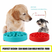 Wholesale 4 Colors Portable Size Healthy Food Bowl Slow Eating Anti Choking Anti Choke Dog Cat Pets Feeder Bowl Home Pet Accessories