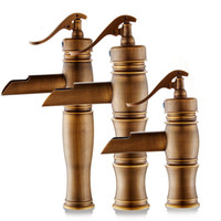 Wholesale faucets for kitchen - Bathroom Faucets Mixer Euroean Style Retro Easy Wash for Basin Sink and Kitchen Antique Faucet Deck Mounted Single Holder Single Hole