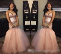 Wholesale Peach Petals - 2017 Peach Blingbling Sequins South Africa Black Girl Backless Mermaid Prom Dresses Sweetheart Backless intage Aso Ebi Evening Gowns