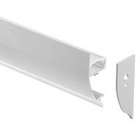cubierta de perfil de tira de led al por mayor-perfil de aluminio led, 1m por pieza, perfil de extrusión de aluminio LED para tiras LED con cubierta difusa lechosa o cubierta transparente SN1342