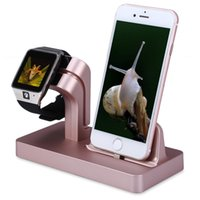 Wholesale Black Docking Station - Charging Stand Bracket Docking Station Stock Cradle Holder for iPhone Apple Watch 38mm 42mm Lazyman Desktop Stand Charger