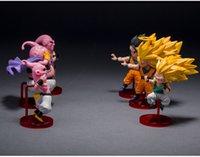 Wholesale Dragonball Figurine - Hot Sale! Lot 6 pcs Dragonball Z Dragon ball DBZ Goku Buu Action Figure Toy Set Cute Figurine