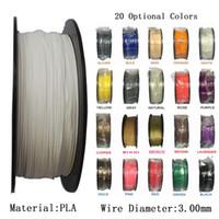3d druckermaterialien großhandel-Mehrfarben-PLA 3,00 mm Filament 3D Drucker Filament 1 KG / SPOOL Kunststoff Gummi Verbrauchsmaterialien Material 3D Drucker Filament