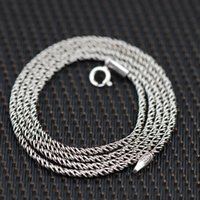 Wholesale S925 Jade Pendant - Wholesale sterling silver necklace pendant pendant accessories S925 female hemp crude 1.5mm men and women new free shipping