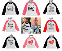 Wholesale Boys Sweaters Long Sleeved Tops - INS Xmas cotton children Cartoon Tshirt Tops cardigan sweaters kids sweater candy colored cardigan boys girls cardigan children outwear 1-5T