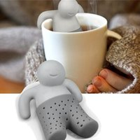 Wholesale Tea Infuser Unique - Mr.Tea Infuser Strainers Filter Unique Cute Tea Strainer, Interesting Life Partner Cute Mr Teapot Silicone Tea Infuser Filter Teapot Drinkw