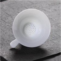 Wholesale Porcelain Strainer - new style all white porcelain Chinese tieguanyin tea strainers delicate transparent high temperature tea accessory T177