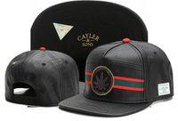 Wholesale Dark Smoke - 2017 new arrival Adjustable Cayler & Sons SMOKING GOOD SINCE 1921 metal leaf leather Baseball Caps Hip Hop Snapback hats Men Casquette