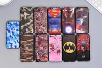 Wholesale Superman Hard Case - Camouflage Superhero Iron man Hard Plastic+TPU Hybrid Case+Metal Finger Ring For Iphone 7 Plus 6 6S 6P Spiderman Superman Cover Skin Stand