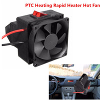 Wholesale Ptc Heater - 300W Car Vehicle PTC Heating Rapid Heater Hot Fan Defroster Demister Black 12V