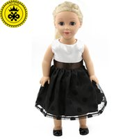 """Wholesale Girl Black Lace Coat - Elegant Black Lace Dress Doll Clothes For 18"""" American Girl Best Gift Dolls Accessories MG-035"""