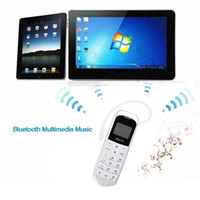Wholesale Gsm Dialer Wireless - J8 bluetooth Dialer mini mobile Phone Earphone 0.66 inch with Hands Free Support FM Radio, Micro SIM Card, GSM Network
