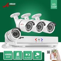 Wholesale waterproof bullet camera online - ANRAN CH HDMI N AHD DVR TVL P IR Day Night Outdoor Waterproof Day Night Video Security Camera Home CCTV Surveillance System
