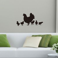 Wholesale Chicken Wall Decal - 36x74cm Hen Chicks Chicken Vinyl Wall Stickers Removable Art Mural for Home Decoration Kids' Bedroom