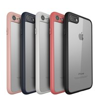 Wholesale Ultra thin Slim Soft back Cases For iphone S Plus Transparent PC cover Matte Bumper Frame Black White Red Pink Navy Blue