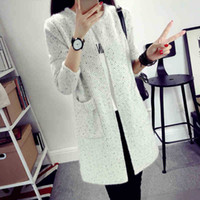 Wholesale Thin Cardigan Outfits - Wholesale- The new 2016 autumn outfit han edition temperament show thin sweater in long knitting cardigan female coat