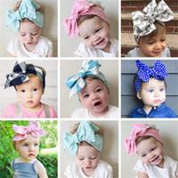 cravates de cheveux de bébé achat en gros de-10pcs coton infantile bébé bandeaux bricolage attaché arc fille bandeau coiffures enfants bébé photographie accessoires NewBorn bébé bandes de cheveux Accessoires