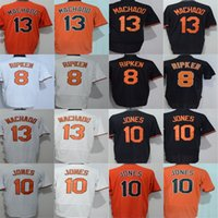 2017 günstige Mens Frauen Kind Kleinkind Baltimore Cal Ripken Jr. 13 Manny Machado 10 Adam Jones Schwarz Orange Weiß Kühle Flex Basis Jerseys