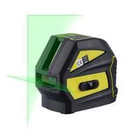 auto-nivelamento de laser de linha cruzada venda por atacado-Freeshipping 2 Linhas Nível Laser Verde (Horizontal E Vertical) Linha Laser Cruzada (Nivelamento Automático Dentro de 4 Graus) WAL52