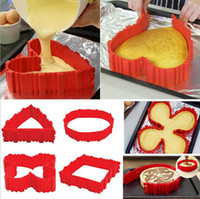 Wholesale Bake Snake Silicone Snake Cake Mold Magic Cupcake Baking Square Rectangular Heart Shape Mold Bakeware Set Pastry Tools OOA1528