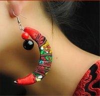 Pendientes hechos a mano Vintage Knitting Fashion Earrings Jewelry Chinese Ethnic Gifts For Women Envío gratis Hot Sell