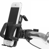 Wholesale Mount Motorcycles - Generic 2 in 1 Waterproof Motorcycle Cell Phone Mount Holder with USB Charger Power Switch 3.3FT Power Cable