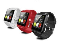 Wholesale Watches Phone Gold - U8 Smart Watch Bluetooth Phone Mate Smartwatch Perfect for Android for 4S 5 5S for S4 S5 Note 2 Note4 Free Shipping