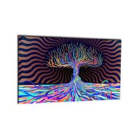 Wholesale colourful wall painting - 1 PCS Colourful Trees Trunks Purple Canvas Painting Wall Art Spray Wall Painting Home Decor Canvas Printings For Living Room