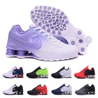 Wholesale Ladies Royal Blue Dress Shoes - 2017 man woman shox deliver NZ R4 top designs for women basketball running dress sneakers sport lady crystal lace flat running shoes 36-46