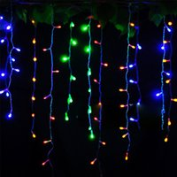 Wholesale Outdoor Led Lights Icicle - Waterproof 3.5m Drop String Light 0.3-0.5m LED Curtain Icicle Colorful Lights AC220V for Christmas Wedding Party Outdoor Decoratio