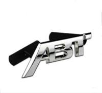 Wholesale cc decals for sale - Group buy Metal ABT refit Aluminum car badge auto front grille emblem D ABT logo stickers car sticker decal for VW CC Polo passat b5