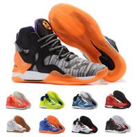 Wholesale Golf D - Hot Seller D Rose Baketball Shoes Men Boots 7 VII Blue White Christmas Sneakers Derrick Rose Sports Replicas Sneaker Size 7-12