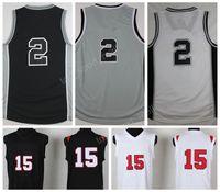 Wholesale Gray Basketball Jersey - 2017 Sport 2 Kawhi Leonard Jersey San Diego State 15 Kawhi Leonard College Jerseys Basketbal Uniforms Home Black Gray White with player name