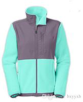 Wholesale Women S Velvet Jacket Coat - 2017 new The Brand Women Denali Fleece Windproof Thermal Jacket Male North Plolartec Winter Coats Outdoor Sports Face Jackets