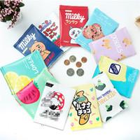 Wholesale Checkered Purse - Multicolor Simulated snacks print pouch Cute creativity mini handbag Imitation food Handbag Coins bag kids purse