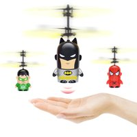 Wholesale Batman Ball - 2017 new arrival cartoon Air RC Flying Ball 4 styles batman spiderman green Lantern Hero flying ball Kids Teenagers Colorful Flyings