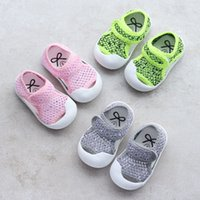 Wholesale Cool Shoes For Girls - Infants Baby toe protection mesh sandals summer breathable cool pre walkers baby boys girls fashion first walker beach shoes for 0-2T