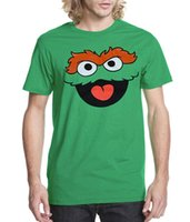Crew Neck oscar the grouch - Sesame Street Oscar The Grouch Face Adult new High Quality Cotton men s T Shirt cheap sell