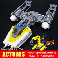 Wholesale Y Wing - New 691Pcs Lepin 05065 The Y Model Wing Star Set fighter Building Blocks Bricks Educational Toys christmas Gift 75172