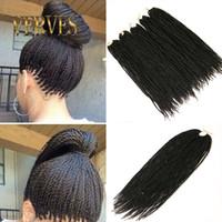 satılık ombre hair extensions toptan satış-VERVES sıcak satış 30 Tellerinin Kroşesi Örgüler Ombre Kanekalon Örgü Saç Tığ Örgüler Kutusu Örgüler Saç Uzantıları Senegalese Büküm Saç