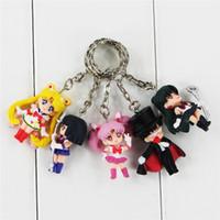 seemann venus puppe großhandel-Freies Verschiffen 15 teile / satz Anime Sailor Moon Mars Jupiter Venus Mercury Schlüsselanhänger Action-figuren Spielzeug Puppen