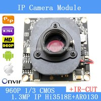 "Wholesale Dual Ccd Cctv Camera - IPC 960P 1280 x 960 1 3"" CMOS Hi3518+AR0130 CCTV IP camera module board + HD IR-CUT dual-filter switch"