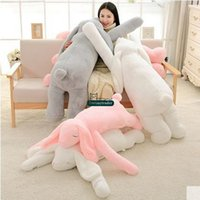 Dorimytrader Lovely Large 120cm Soft Cartoon Big Ear Bunny Peluche Toy 47 '' Giant Animal Rabbit Farce Pillow Girl Doll DY60395