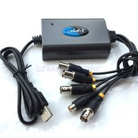 Wholesale Easycap Usb Dvr - Wholesale- 2016 new USB 2.0 Easycap 4 Channel DVR CCTV Camera Audio Video Adapter Recorder for win7 Free shipping