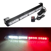 16 LED Rot Weiß Notfall Warnleuchte Bar Traffic Berater Strobe Flash Lampe