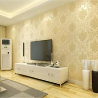 Wholesale 3d European Simple Living Room Wallpaper Bedroom Sofa TV Background of Wall Paper Roll Non woven Wallpaper