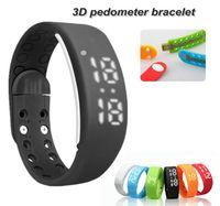Wholesale Kids Sports Equipment Wholesale - New W2 LED Waterproof Smart Watch Wristband Sleep Monitoring Bracelet Sports Pedometer Strap 3D Android USB Intelligent Equipment Free ship