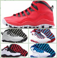 Wholesale Paris Art Canvas - 2016 Retro 10 Paris NYC CHI Rio LA Hornets City Pack Vivid Pink 10s Men Basketball Shoes Sneakers Canvas Real Authentic Man Shoes