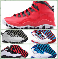 2016 Retro 10 Paris NYC CHI Rio LA Hornissen City Pack Vivid Pink 10s Männer Basketball Schuhe Sneakers Canvas Real Authentic Man Schuhe